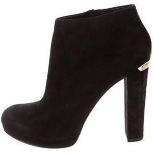 Michael Kors Black Haven Round Toe Ankle Boot